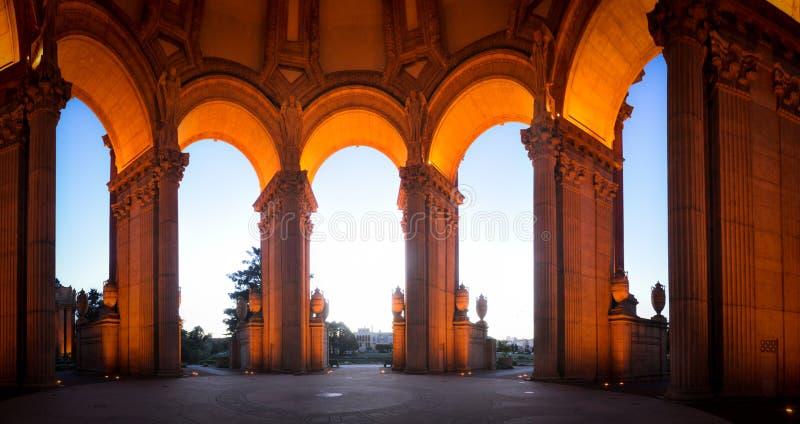 Łuki Wspaniały pałac sztuka piękna San Fransisco zdjęcie royalty free