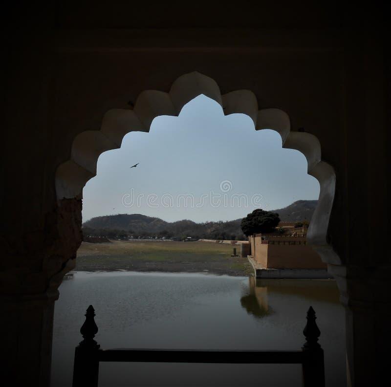 Łuki, Złocisty fort, Jaipur obrazy royalty free