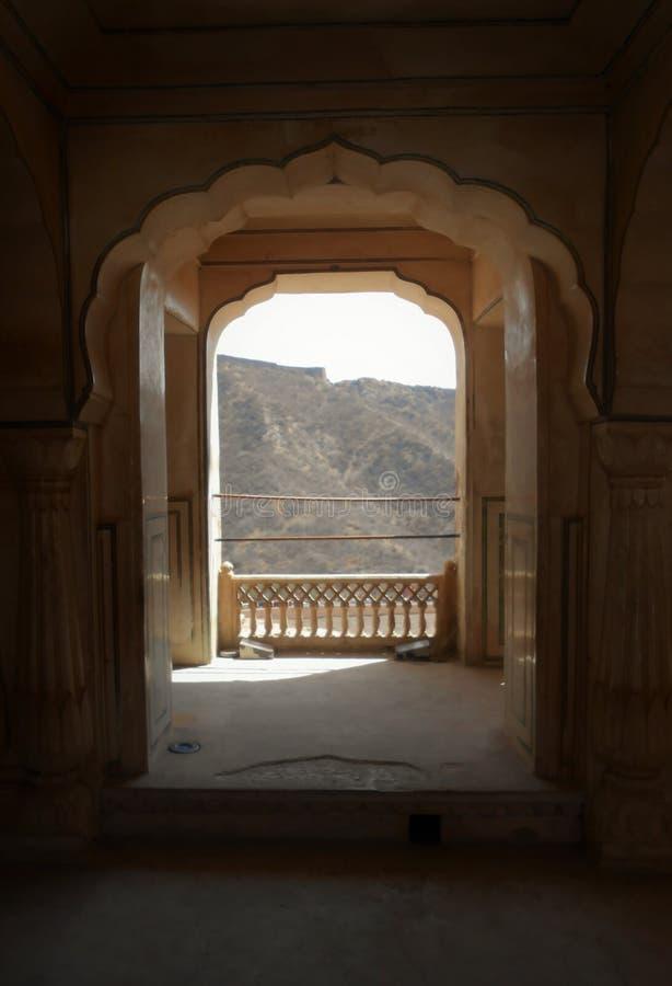 Łuki, Złocisty fort, Jaipur fotografia stock