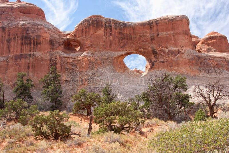 łuku łuków park narodowy tunel zdjęcia stock