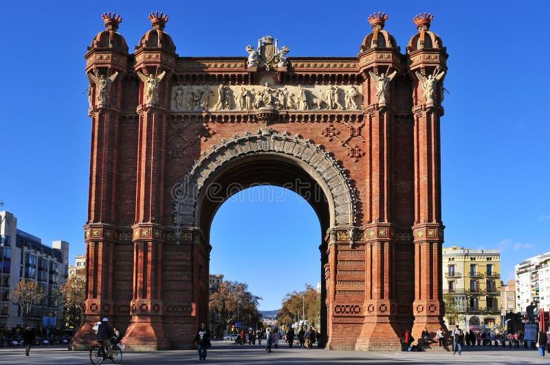 łuku Barcelona de Spain triomf obraz stock