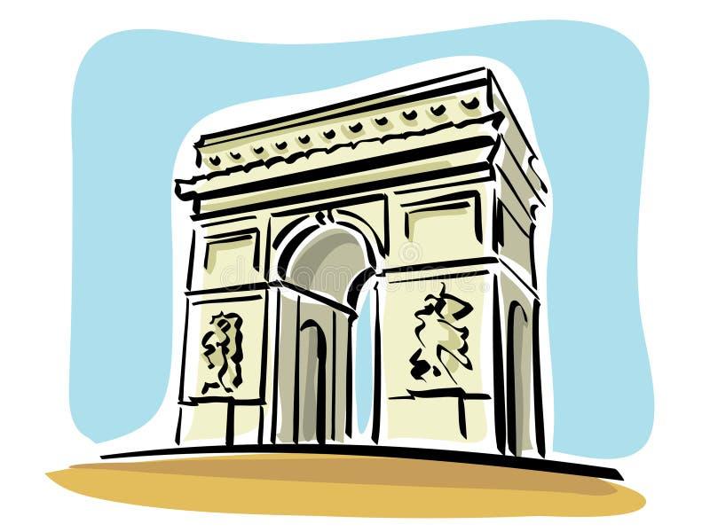 łuku de Paris triomphe ilustracja wektor