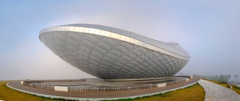 Łuku Kulturalny centrum, stylu budynek z galeria sztuki & eksponat przestrzenie, obrazy royalty free