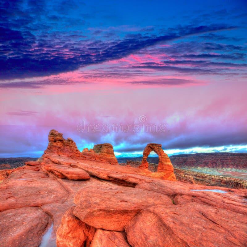 Łuku parka narodowego Delikatny łuk w Utah usa obrazy royalty free