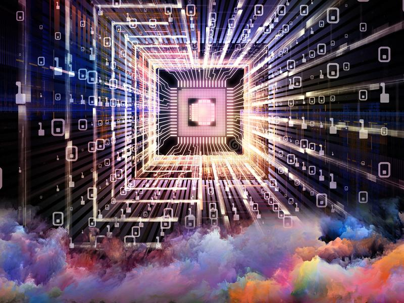 Łuna Cyfrowego procesor royalty ilustracja