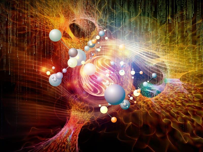 Łuna cząsteczki zdjęcie royalty free