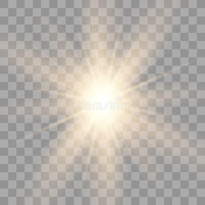 Łuny odosobniony biały przejrzysty royalty ilustracja
