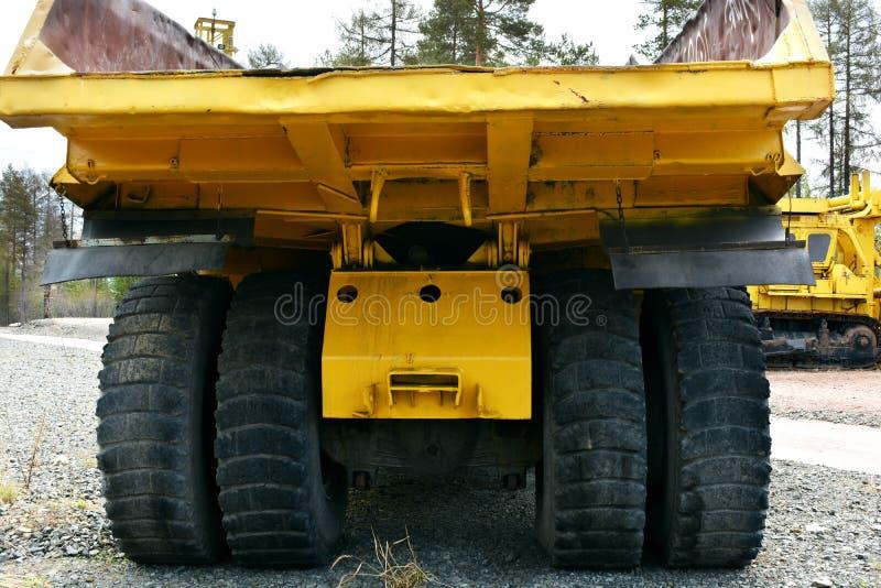 Łup ciężarówka behind zdjęcie stock