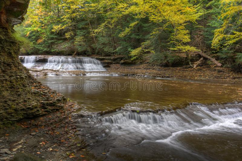 Łup skały spadki Bentleyville Ohio obrazy royalty free