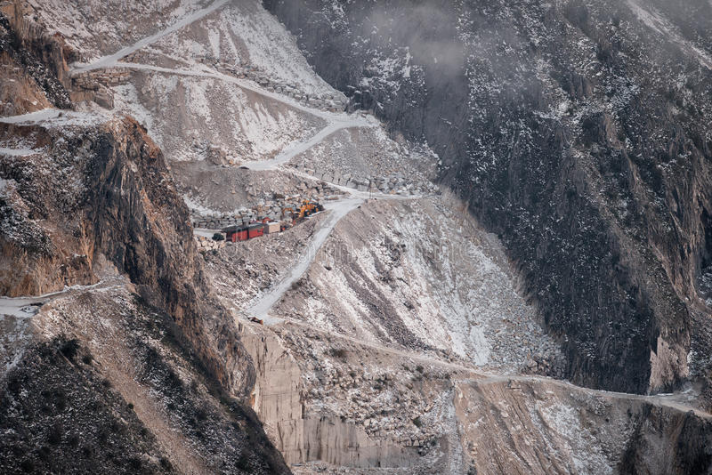 Łup w Tuscany, Kararyjskim obrazy stock