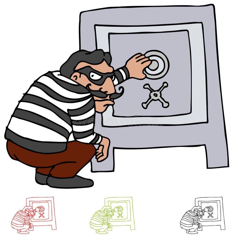 łupanie skrytka ilustracja wektor