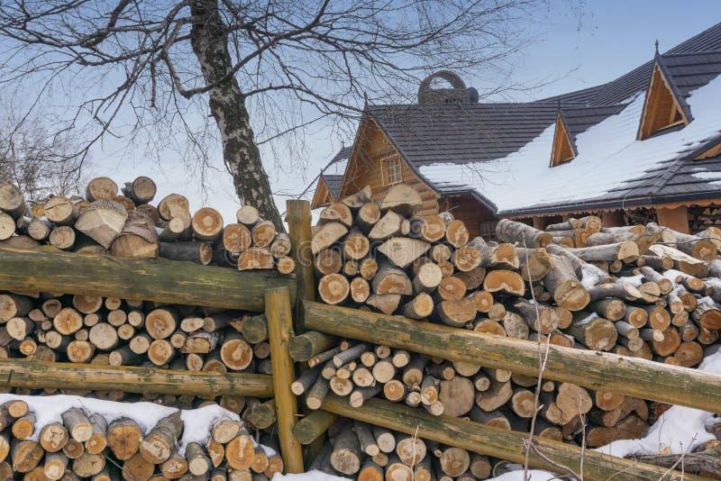 Łupka brogująca obok drewnianego ogrodzenia obrazy stock