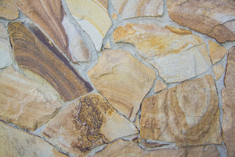 Łupkowej Kamiennej ściany tekstury nieregularne cegły fotografia royalty free