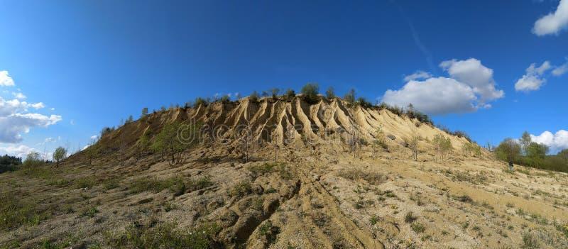 Łupu niebo i panorama zdjęcia stock