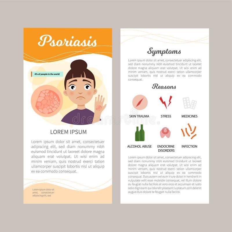Łuszczyca infographic ilustracji