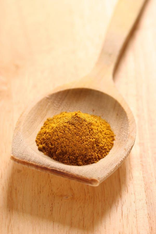 łyżka curry zdjęcia stock
