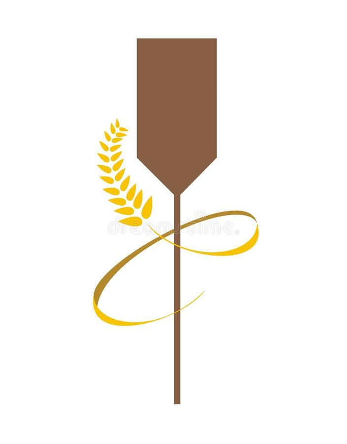 łyżki pszenica piekarni royalty ilustracja