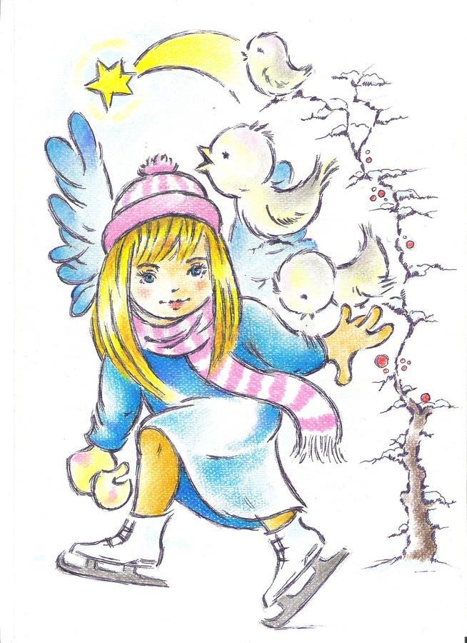 łyżwa ilustracji