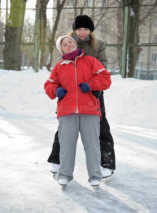 łyżwiarskie lodowisko kobiety zdjęcia stock