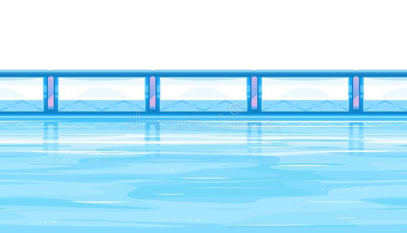 Łyżwiarskiego lodowiska tło ilustracja wektor