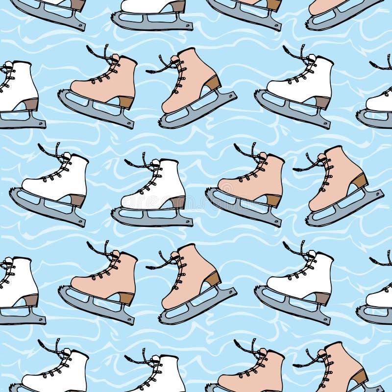 Łyżwiarstwo figurowe przeciw tłu lód ilustracja wektor
