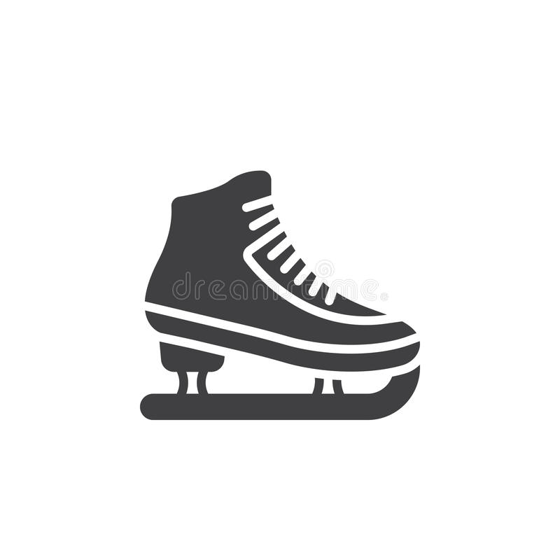 Łyżwiarstwo figurowe symbol lodowej łyżwy ikony wektor, wypełniający mieszkanie znak, ilustracji