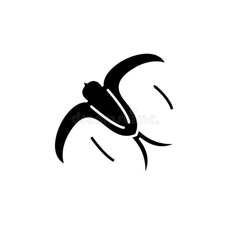 Łyka czarną ikonę, wektoru znak na odosobnionym tle Dymówki pojęcia symbol, ilustracja ilustracji