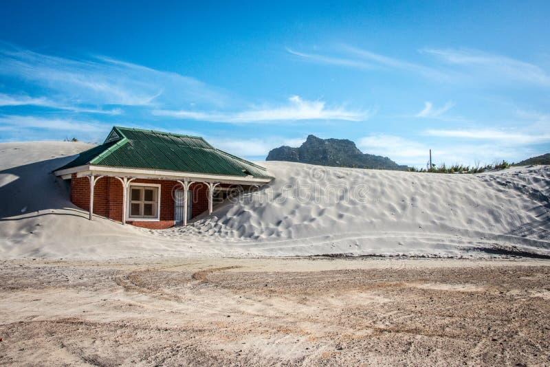 Łykający piaskiem zdjęcie stock