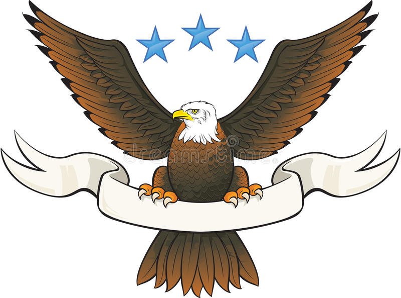 łysego orła insygnia royalty ilustracja