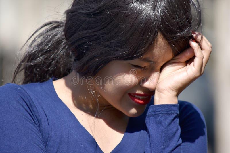 Łzawa Dorosłej kobiety kobieta zdjęcie stock