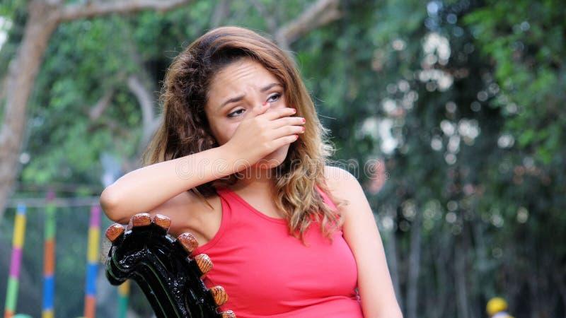 Łzawa Latina kobieta obrazy stock