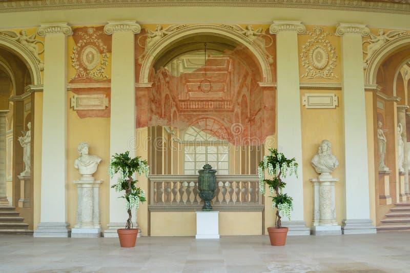 Łzawica przeznaczenie w Gonzaga galerii budynku, wewnętrzny widok fresku zespół w Pavlovsk, St Petersburg, Rosja zdjęcia royalty free