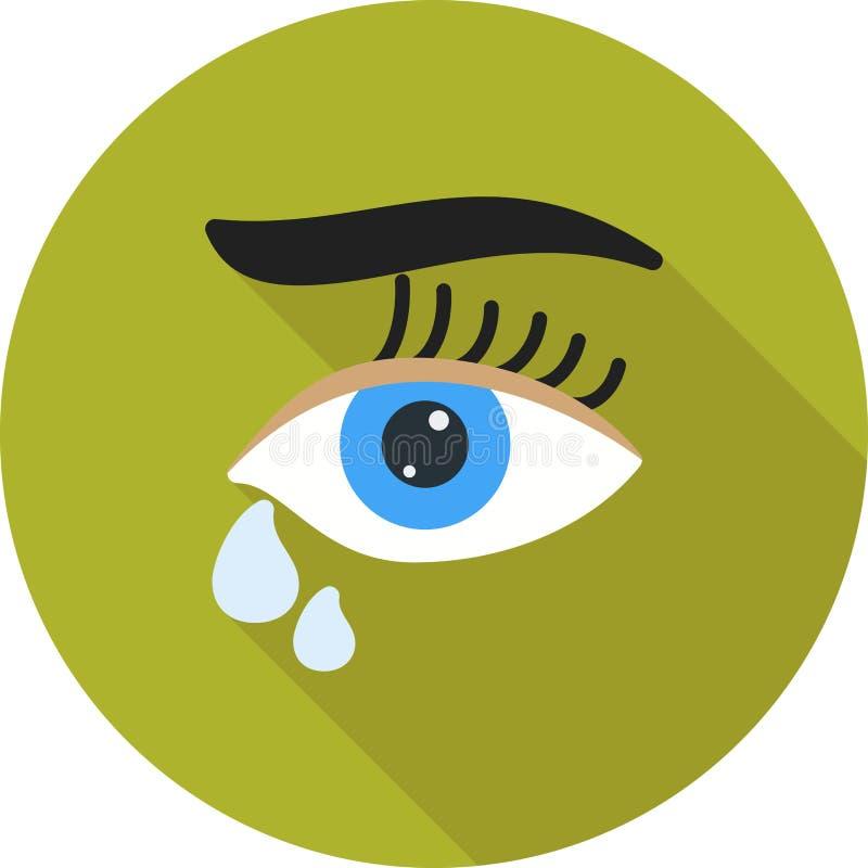Łzy w oczach ilustracji