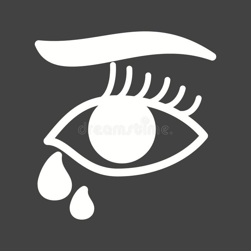 Łzy w oczach ilustracja wektor
