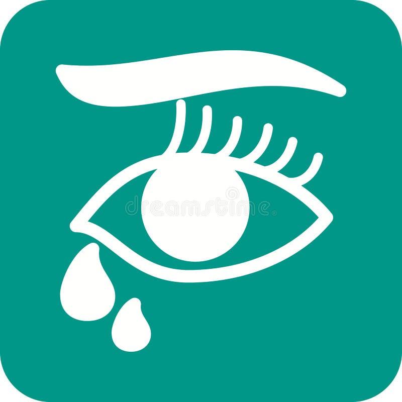 Łzy w oczach royalty ilustracja