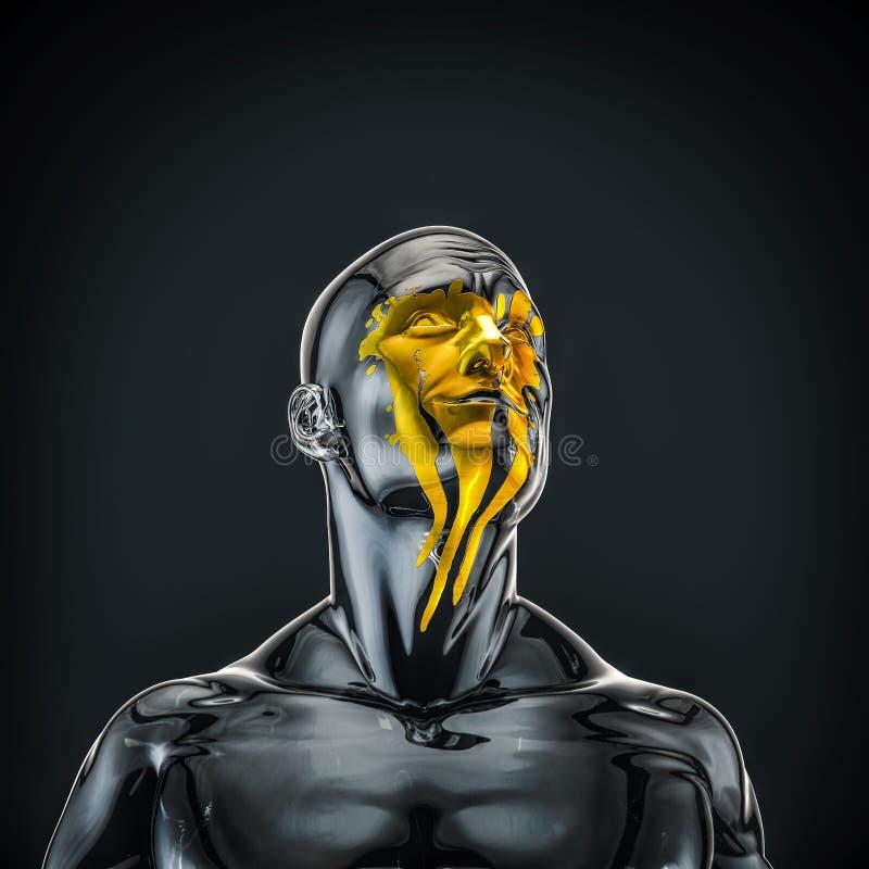 Łzy złoto ilustracja wektor