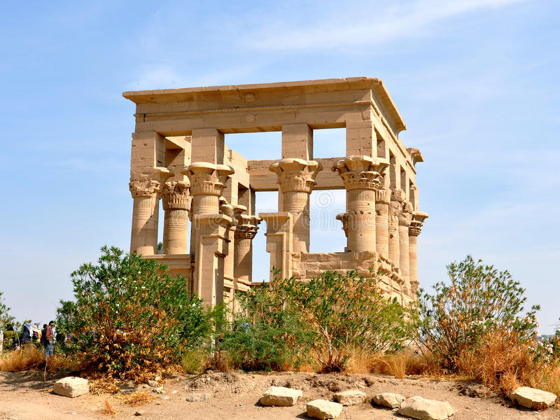 ¼ ŒAswan Egitto di Philae Templeï fotografie stock libere da diritti