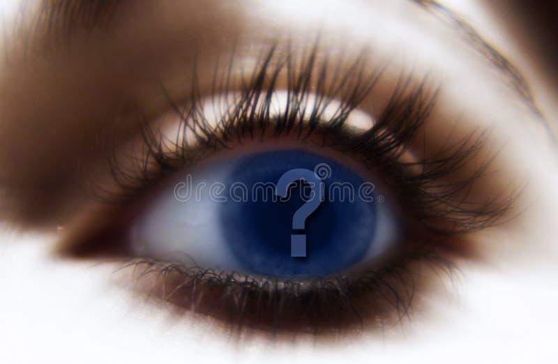 œil bleu ? illustration stock