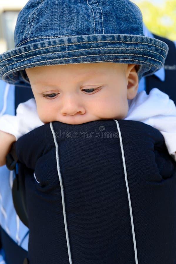 œil bleu, enfant en bas âge image libre de droits
