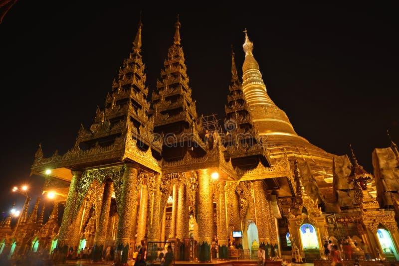 ¼ ŒYangon Shwedagon Pagodaï myanmar стоковое изображение