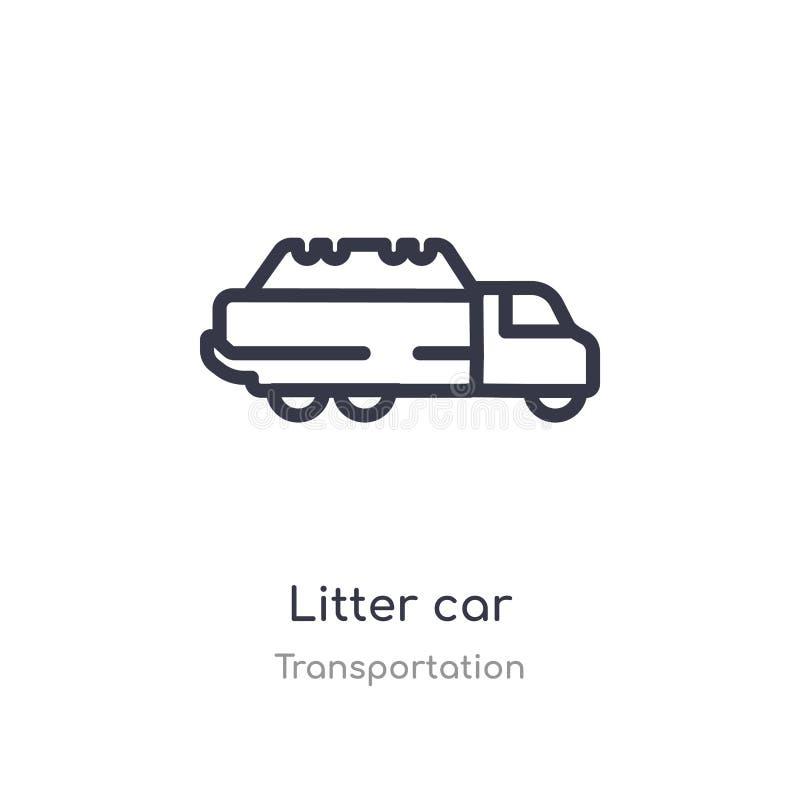 ściółka konturu samochodowa ikona odosobniona kreskowa wektorowa ilustracja od transport kolekcji editable cienkiej uderzenie ści royalty ilustracja