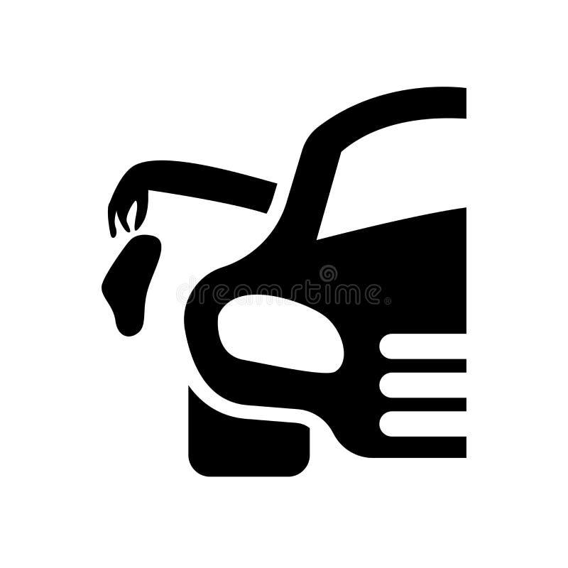 ściółka samochodu ikona Modnej ściółki logo samochodowy pojęcie na białym backgro ilustracja wektor