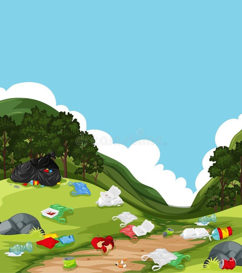 Ściółka w natura krajobrazie ilustracja wektor