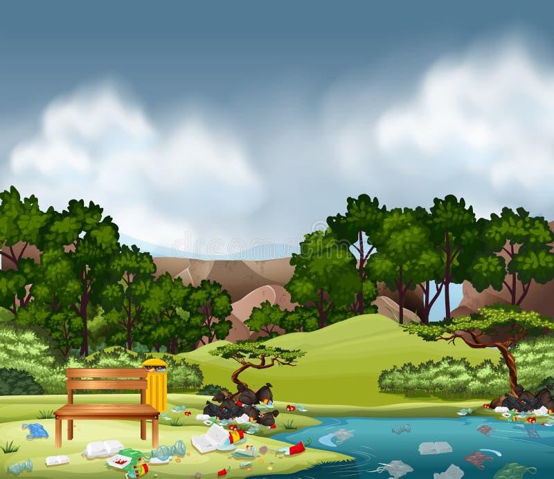 Ściółka w natura parku royalty ilustracja