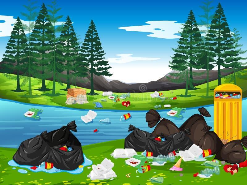 Ściółka w parku ilustracja wektor