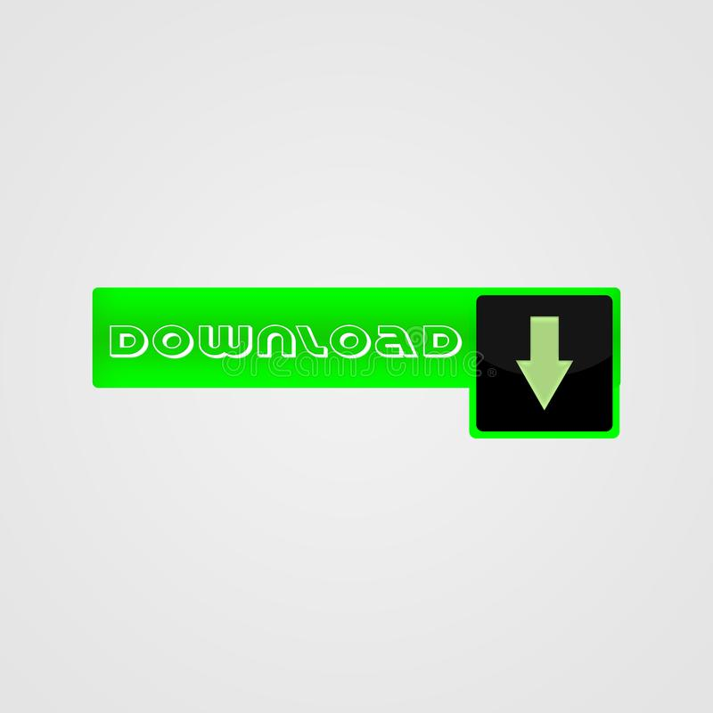 Ściąganie guzik dla strony internetowej, zieleń z fotografia stock