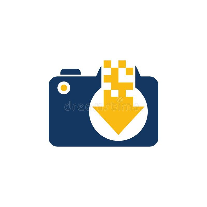 Ściąganie kamery loga ikony projekt royalty ilustracja