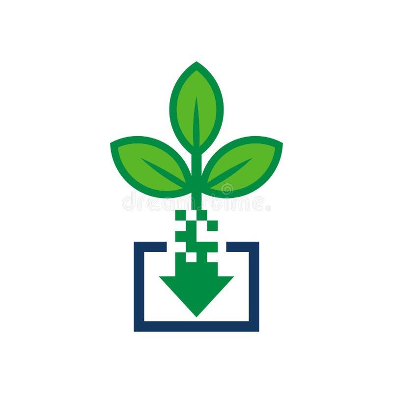 Ściąganie natury loga ikony projekt ilustracji