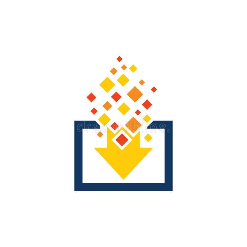 Ściąganie piksla loga ikony projekt royalty ilustracja