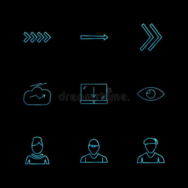 ściąganie profilowy, avtar, strzała, kierunki, avatar, downl royalty ilustracja